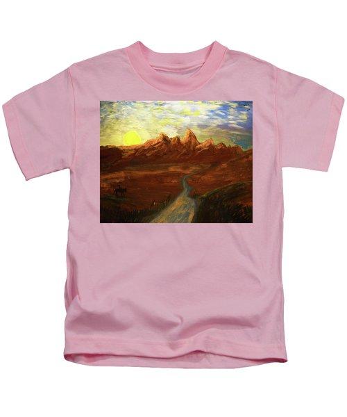 Spirit Of Wyoming Kids T-Shirt