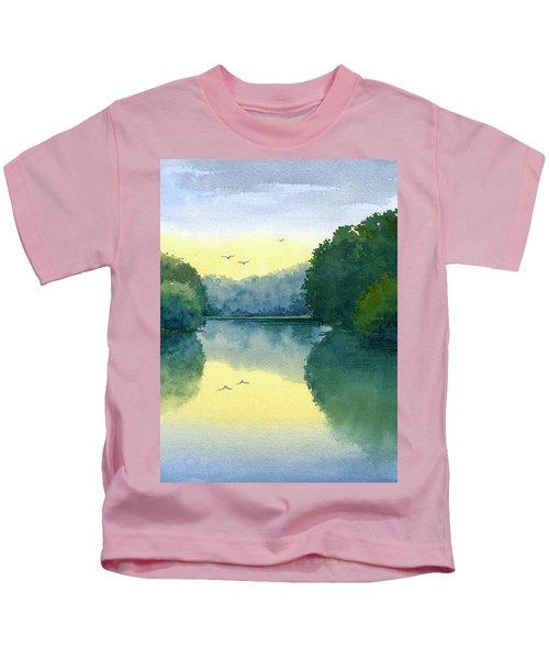 Sunset At Memorial Park Kids T-Shirt