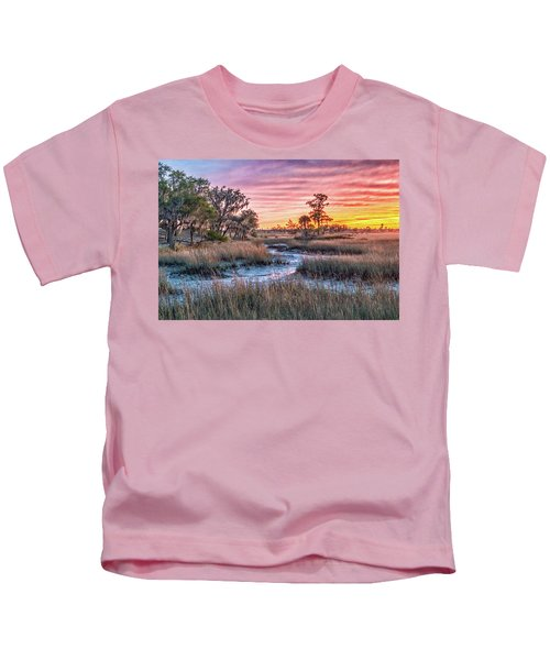 Sunset Over Chisolm Island Kids T-Shirt