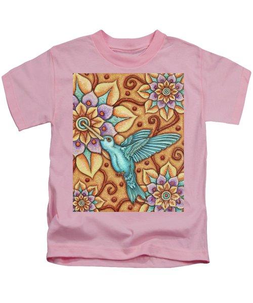 Tapestry Hummingbird Kids T-Shirt