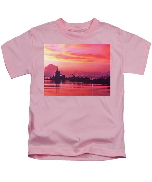 Temple On The Sea Kids T-Shirt