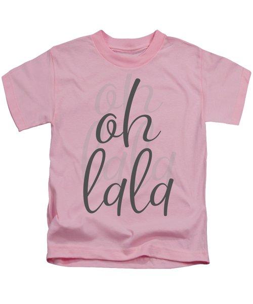 Text Art Oh La La Kids T-Shirt