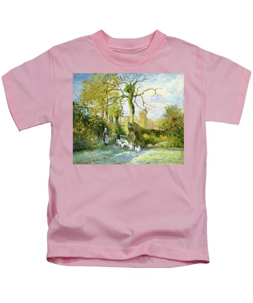 The Goose Girl At Montfoucault - Digital Remastered Edition Kids T-Shirt