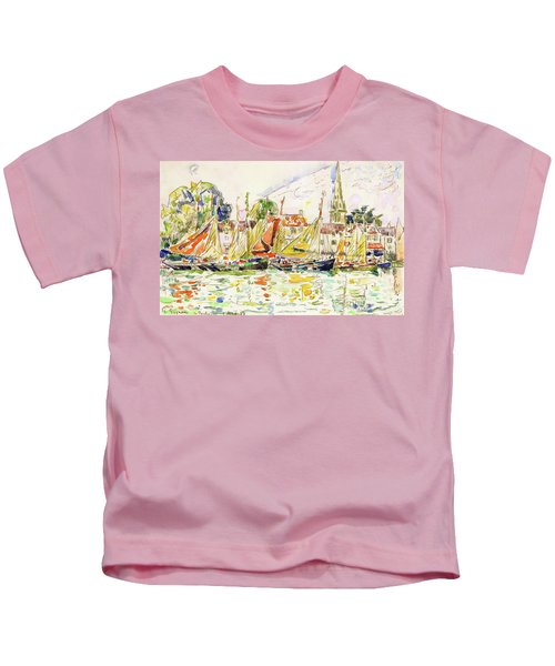 The Pouliguen, Fishing Boats - Digital Remastered Edition Kids T-Shirt