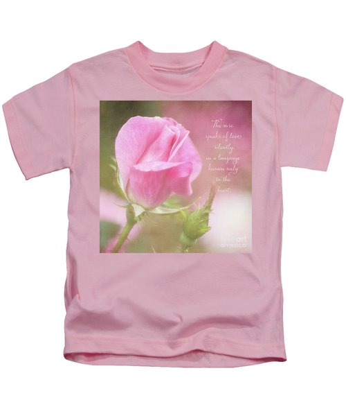 The Rose Speaks Of Love Photograph Kids T-Shirt