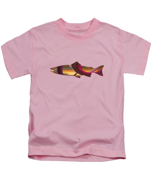 Trout In Pink Kids T-Shirt