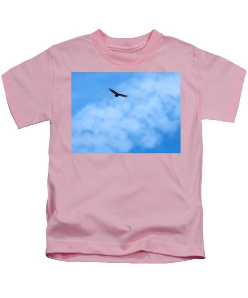 Kids T-Shirt featuring the photograph Turkey Vulture In Flight by Judy Kennedy