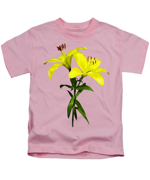 Two Yellow Lilies Opened Kids T-Shirt