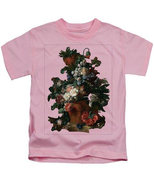 Vase Of Flowers By Jan Van Huysum Kids T-Shirt