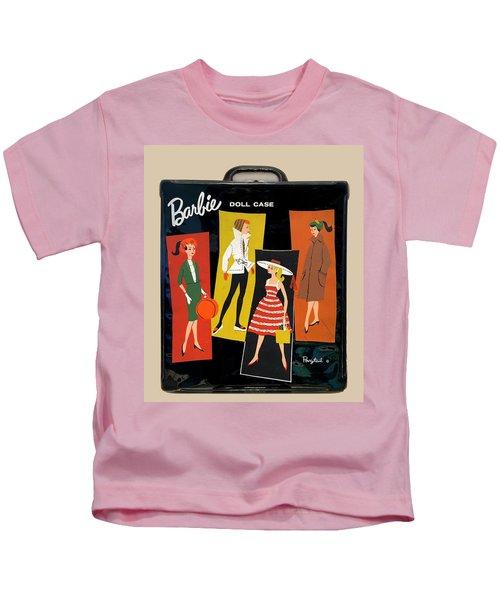 Vintage Barbie Doll Case Kids T-Shirt
