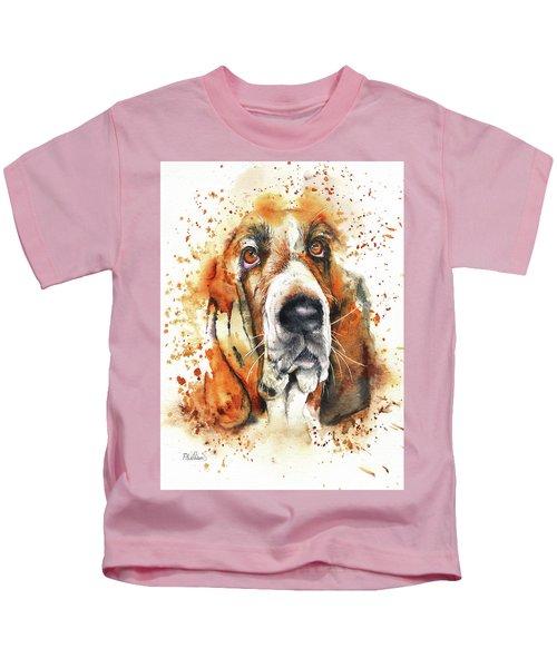 Wet Basset Kids T-Shirt