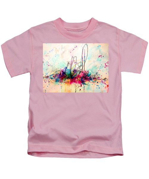 Kids T-Shirt featuring the painting Whisper In My Ear by Tracy Bonin