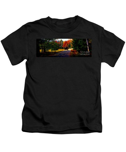 Acadia National Park Carriage Trail Fall  Kids T-Shirt