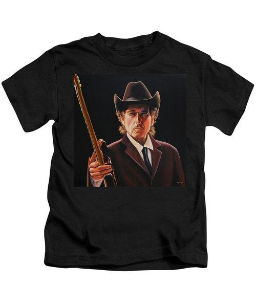 Bob Dylan 2 Kids T-Shirt by Paul Meijering