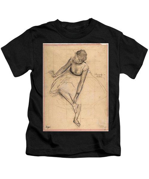 Dancer Adjusting Her Slipper Kids T-Shirt