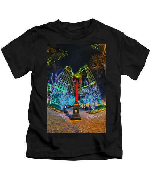 Nightlife Around Charlotte During Christmas Kids T-Shirt