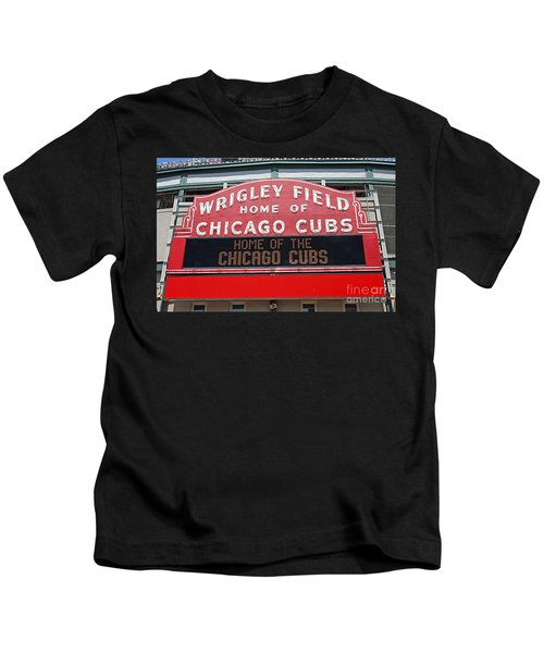0334 Wrigley Field Kids T-Shirt