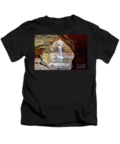 0942 Cascade Falls - Matthiessen State Park Kids T-Shirt