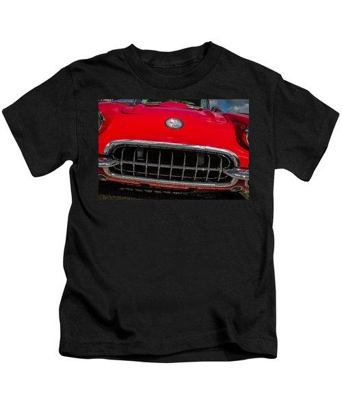 1958 Chevrolet Corvette Grille Kids T-Shirt