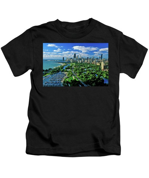 Aerial View Of Chicago, Illinois Kids T-Shirt