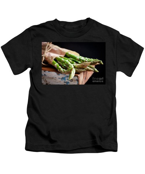 Asparagus Kids T-Shirt by Kati Molin