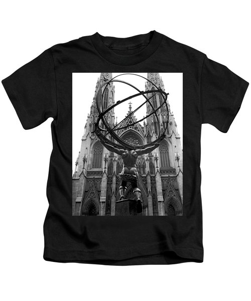 Atlas In Rockefeller Center Kids T-Shirt