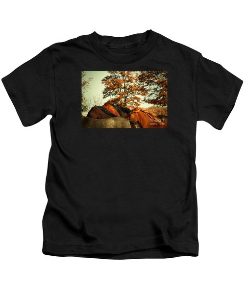 Autumn Wild Horses Kids T-Shirt