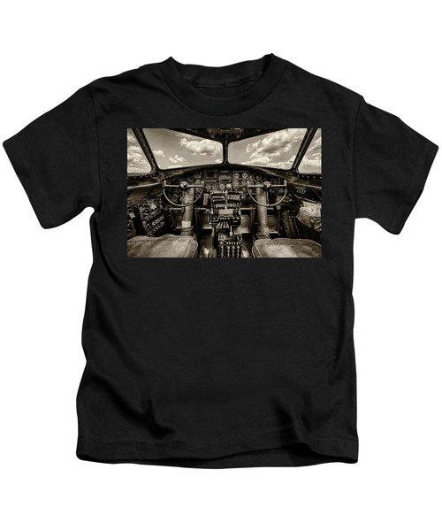 Cockpit Of A B-17 Kids T-Shirt