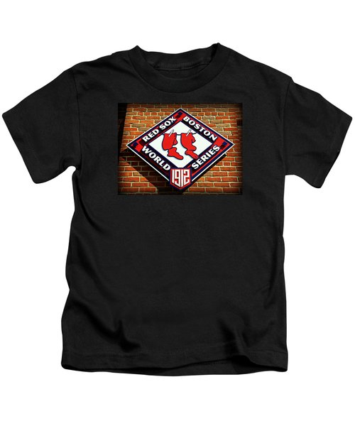 Boston Red Sox 1912 World Champions Kids T-Shirt by Stephen Stookey