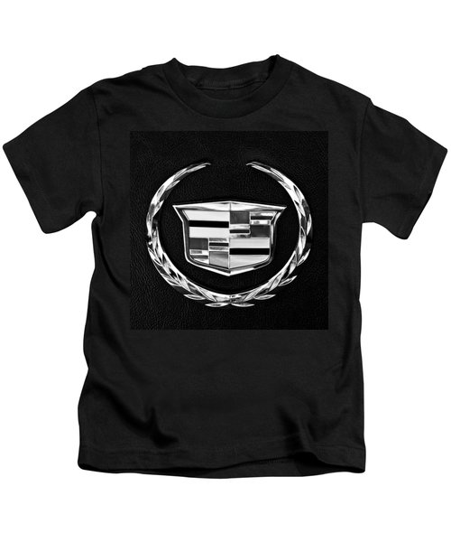 Kids T-Shirt featuring the photograph Cadillac Emblem by Jill Reger