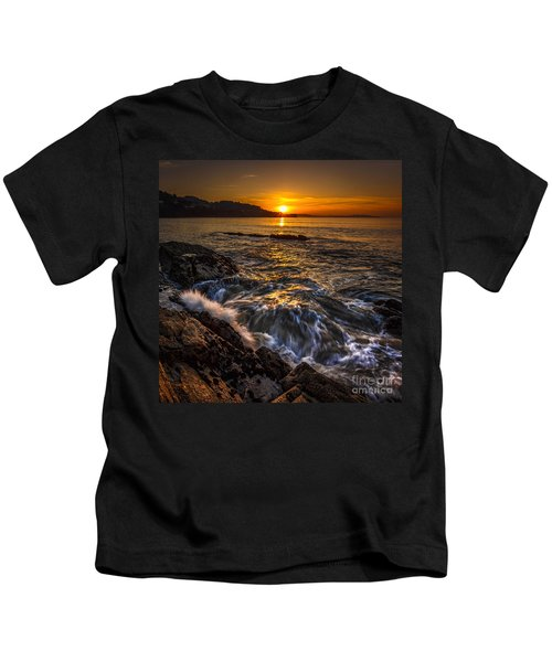 Chamoso Point In Ares Estuary Galicia Spain Kids T-Shirt