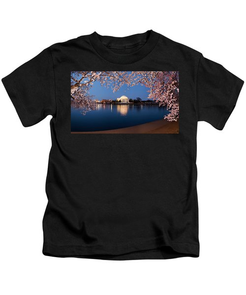 Cherry Blossom Tree With A Memorial Kids T-Shirt