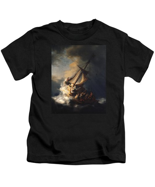 Christ In The Storm On The Sea Of Galilee Kids T-Shirt