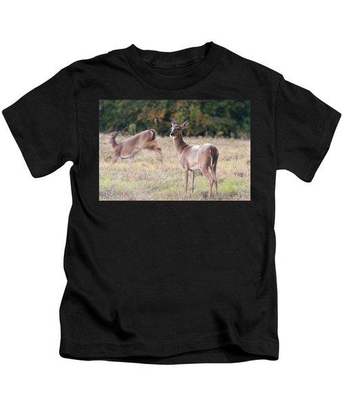 Deer At Paynes Prairie Kids T-Shirt