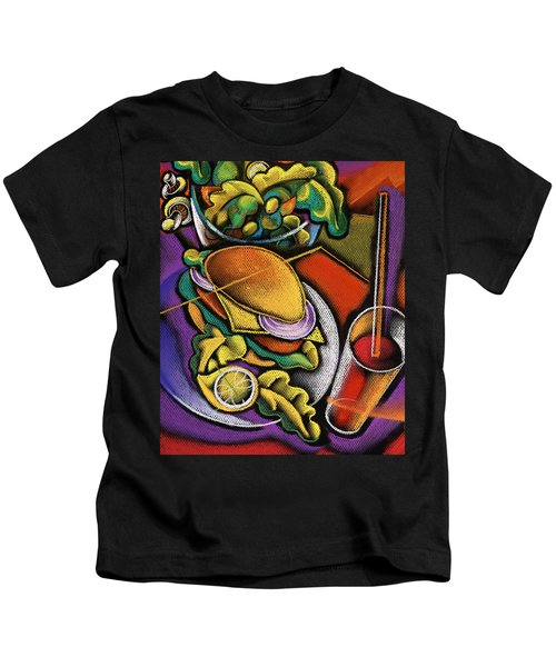 Food And Beverage Kids T-Shirt by Leon Zernitsky