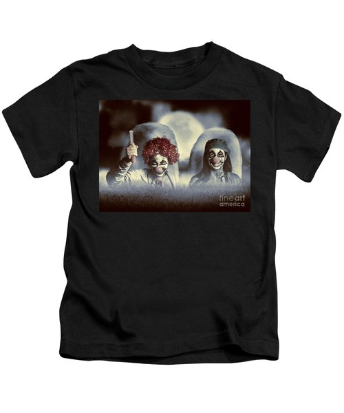 Evil Zombie Clown Doctors Rising From The Dead Kids T-Shirt