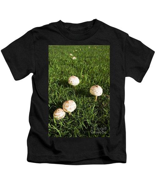Field Of Mushrooms Kids T-Shirt