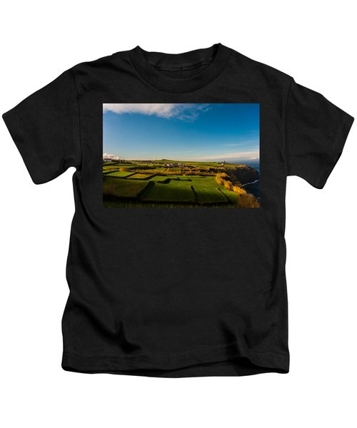 Fields Of Green And Yellow Kids T-Shirt