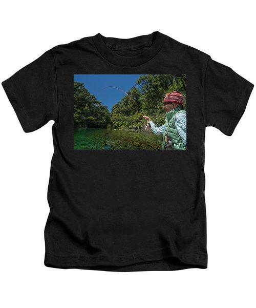 Fly Fishing Patagonia, Argentina Kids T-Shirt