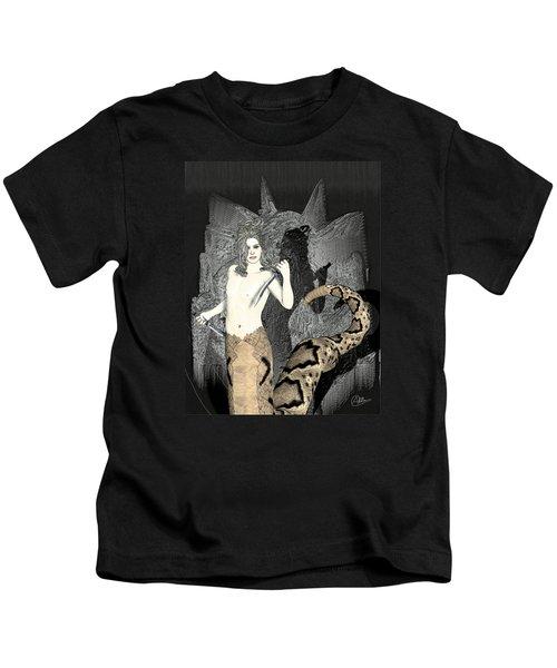 Gorgon Medusa  Kids T-Shirt by Quim Abella