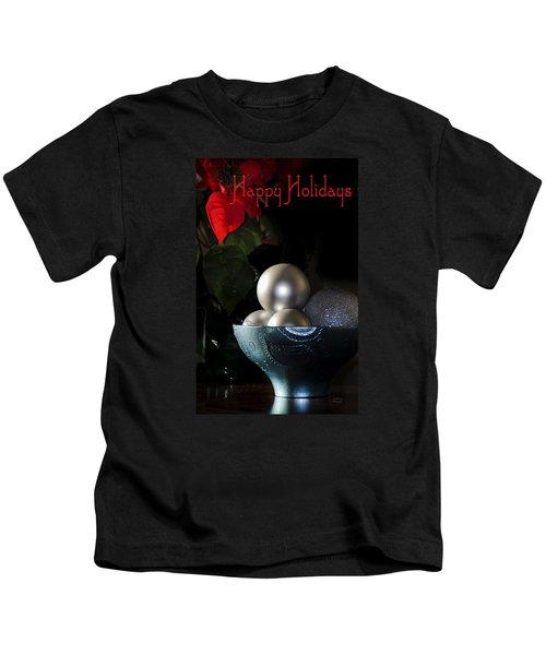 Happy Holidays Greeting Card Kids T-Shirt