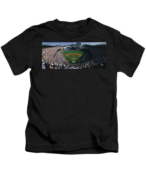 High Angle View Of A Baseball Stadium Kids T-Shirt by Panoramic Images