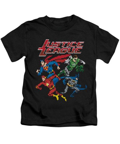 Jla - Pixel League Kids T-Shirt