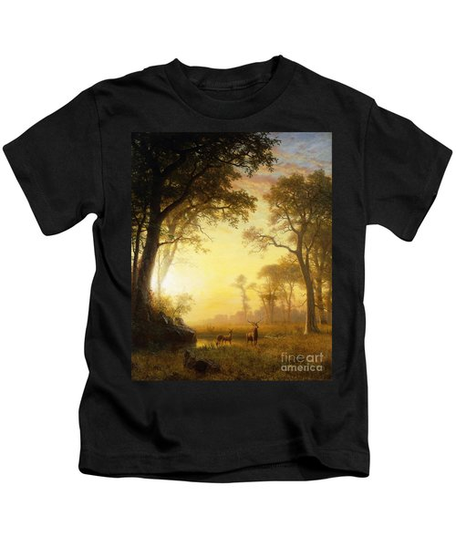 Light In The Forest Kids T-Shirt