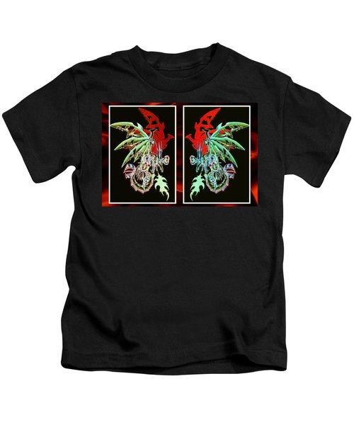 Mech Dragons Pastel Kids T-Shirt
