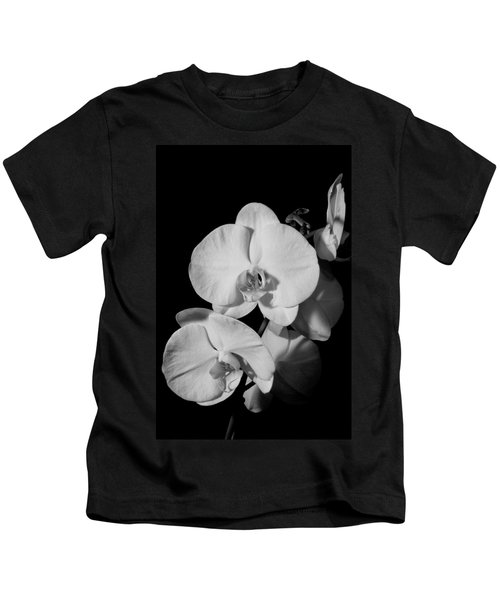 Moth Orchid Bw Kids T-Shirt