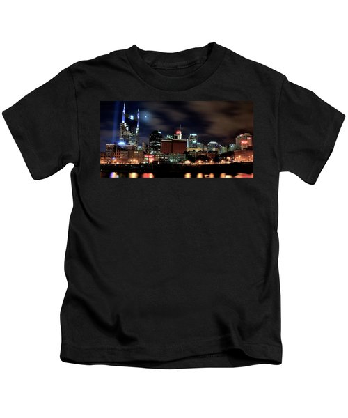 Nashville Panoramic View Kids T-Shirt by Frozen in Time Fine Art Photography