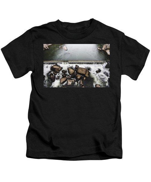 Nature Photograph Of Running Water Steam Kids T-Shirt