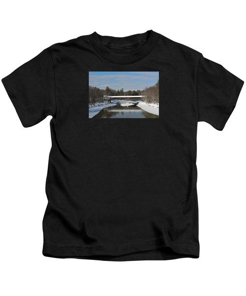 North Conway Covered Bridge  Kids T-Shirt