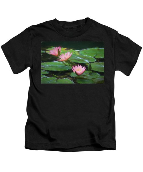 Painted Lilies Kids T-Shirt